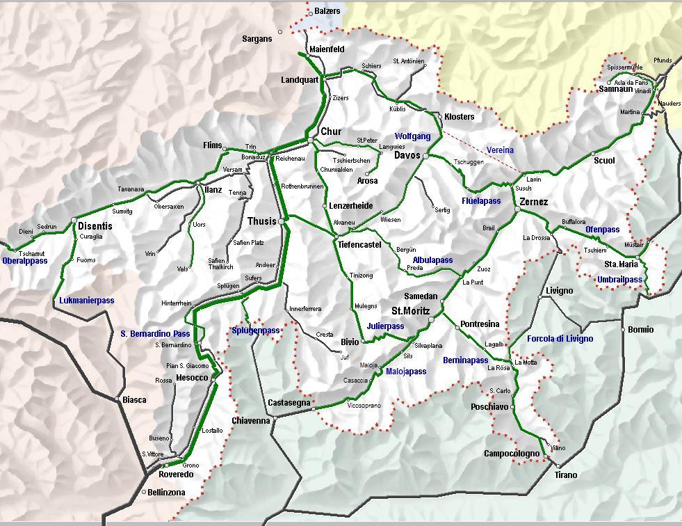 Bergpassen voor route naar Italie/ Comomeer